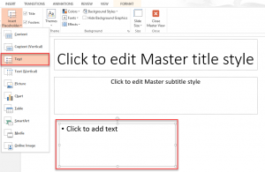 Screenshot of the slide with placeholder added.