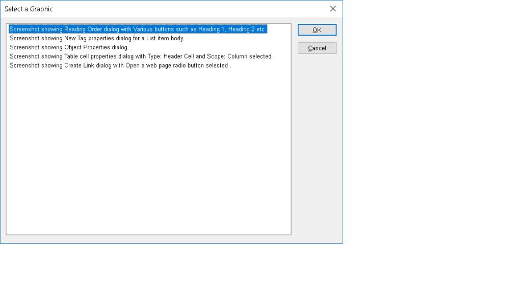 Screenshot showing Select a Graphic dialog