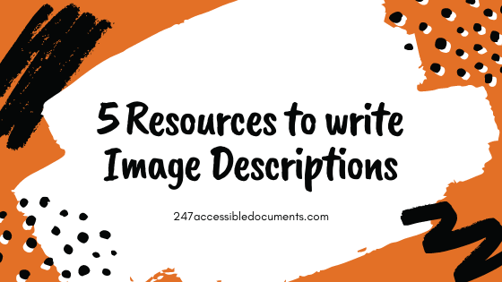 5 resources to write image descriptions