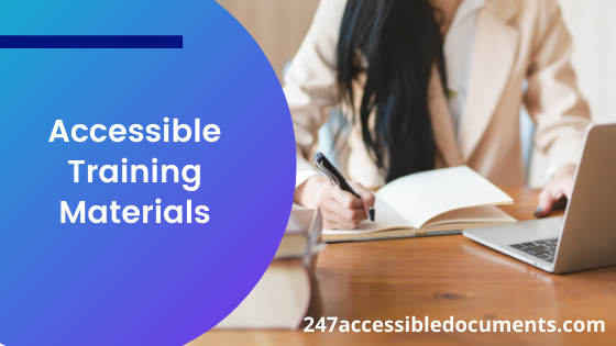 accessible training materials, 247accessibledocuments.com
